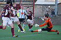 Hearts' Kevin McHattie scores their second goal.
