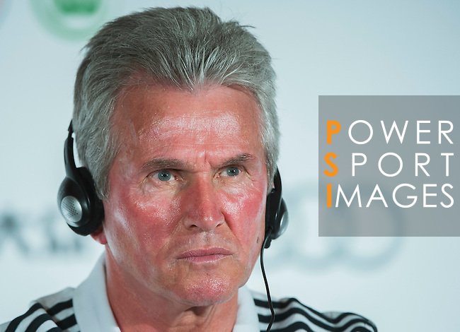 Head coach Jupp Heynckes of Bayern Munich attends a press conference ahead the friendly match against VfL Wolfsburg as part of the Audi Football Summit 2012 on July 26, 2012 at the Westin hotel in Guangzhou, China. Photo by Victor Fraile / The Power of Sport Images