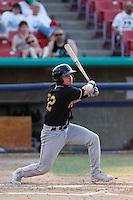 Ryan Casteel #32 of the Modesto Nuts bats against the High Desert Mavericks at Stater Bros. Stadium on June 29, 2013 in Adelanto, California. Modesto defeated High Desert, 7-2. (Larry Goren/Four Seam Images)