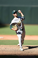 Oakland Athletics pitcher Cody Stull (65) during an Instructional League game against the Arizona Diamondbacks on October 10, 2014 at Chase Field in Phoenix, Arizona.  (Mike Janes/Four Seam Images)
