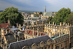 Brasenose College buildings from above, University of Oxford, England, UK