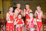 TRALEE BC: The six member's of the Burke family, Baisn View, Tralee who competed for the Tralee boxing club at the Tralee ABC tournament at the Central hotel, Tralee on Saturday front l-r: Winnie and Daniel Burke. Back l-r: Thomas, Martin, MJ and Anthony Burke.