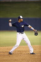 Gilbert Lara (1) of the AZL Brewers throws during a game against the AZL Athletics at Maryvale Baseball Park on June 30, 2015 in Phoenix, Arizona. Brewers defeated Athletics, 4-2. (Larry Goren/Four Seam Images)