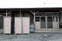 Temporary prefab housing in Kesennuma on February 9, 2016, Miyagi Prefecture, Japan. After the tsunami and earthquake of March 2011 some 53,000 prefab units were built to house evacuees across the region. In Kesennuma it is expected that some 2,000 out of 2,351 units built there will remain occupied after the 5 year anniversary. It was originally hoped that all evacuees could be moved to permanent structures by this time. (Photo by Rodrigo Reyes Marin/AFLO)