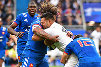 Ben Teo of England runs into Mathieu Bastareaud of France during the RBS Six Nations match between France and England at Stade de France on March 10, 2018 in Paris, France. (Photo by Dave Winter/Icon Sport)