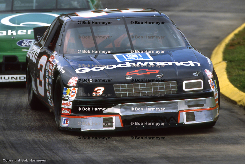 MARTINSVILLE, VA - APRIL 26: Dale Earnhardt drives during the Hanes 500 on April 26, 1992, at the Martinsville Speedway near Martinsville, Virginia.
