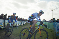 U23 World CX Champion Wout Van Aert (BEL) and European Champion Michael Vanthourenhout (BEL)<br /> <br /> 2014 Noordzeecross