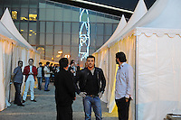 Emin Agalarov, the son-in-law of Azerbaijan's President Ilham Aliyev and the nation's top male pop star, arrives to perform on the Caspian seaside Bulvar at the Eurovsion Song Contest Fan Club concert on April 29, 2012. Agalarov is married to Leyla Aliyeva, the eldest daughter of Azerbaijani President Ilham Aliyev who holds many hats in her own right, among them head of the Heydar Aliyev Foundation in Russia, editor of Baku Magazine, artist, and poet and Agalarov's father, Aras Agalarov, is a Russian billionaire oligarch of Azerbaijani origin in the retail and real estate development sectors, being the first to bring foreign luxury fashion brands to Russia after the collapse of communism and opening several gaudy malls and arenas in Moscow and elsewhere in Russia.