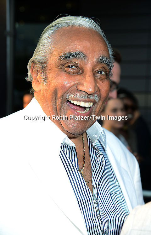 "Congressman Charles Rangel attends the World Premiere of ""Get On Up"" at the Apollo Theater in Harlem in New York Citiy on July 21, 2014."