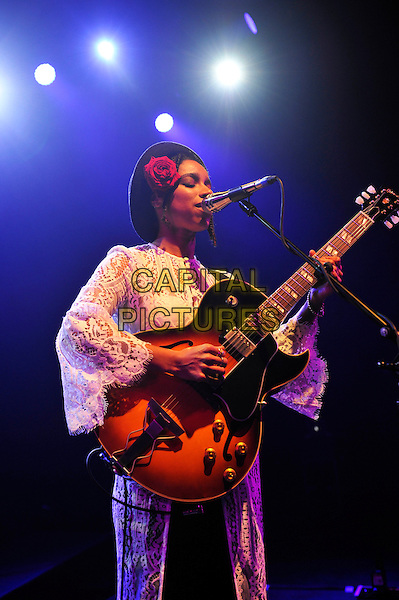 LONDON, ENGLAND - FEBRUARY 14: Lianna La Havas performing for 'War Child' at Shepherd's Bush Empire on February 14, 2017 in London, England.<br /> CAP/MAR<br /> &copy;MAR/Capital Pictures