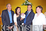 Proud parents Katie and John O'Sullivan from Carrickerry with new addition baby David and grandparents Philip and Helen Hunt pictured here for christening celebrations in The Devon Inn last Sunday afternoon..Katie: 069 76826