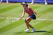 June 18th 2017, Edgbaston Priory Club; Tennis Tournament; Aegon Classic Birmingham; Sunday Qualifiers; Miyu Kato drop shot against Ipek Soylu