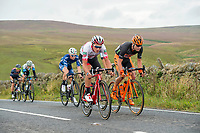 Picture by Allan McKenzie/SWpix.com - 04/09/2017 - Cycling - OVO Energy Tour of Britain - Stage 2 Kielder Water to Blyth - The breakaway climbs Winter's Gibbett with BMC's Silvan Dillier & CCC Sprandi-Polkowice's Lukasz Owsian.