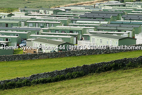 Permanent holiday home caravan park. Barmouth Gwynedd UK 2008. Seaside resort west coast of North Wales.