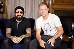"""AJ McLean and Brian Littrell of the Backstreet Boys attend their new music album """"In A World Like This"""" presentation at Palace Hotel on November 12, 2013 in Madrid, Spain. (ALTERPHOTOS/Victor Blanco)"""