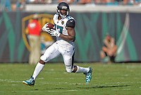 Jacksonville Jaguars rookie running back Leonard Fournette (27) against the Los Angeles Rams in a NFL game Sunday, October 15, 2017 in Jacksonville, Fl.  (Rick Wilson/Jacksonville Jaguars)
