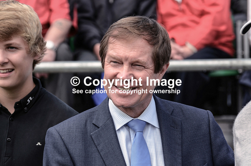 George O'Grady, chief executive, European Tour, at Royal Portrush Golf Club, 201206270323..Photo taken 27th June 2012 on the first tee, Pro-Am competition, Irish Open Championship. <br />