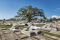 Cemetery in the town of Savanna La Mar, Jamaica