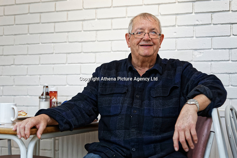 Pictured: Retired steel worker Bobby Griffiths at Bro's cafe in Port Talbot, Wales, UK. Monday 29 January 2018<br /> Re: Some of the Port Talbot steel workers' pensions are under threat after being persuaded to change providers.