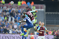 Angelo Ogbonna of West Ham and Oumar Niasse Of Everton during West Ham United vs Everton, Premier League Football at The London Stadium on 13th May 2018