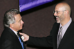 28 August 2006: 2006 Hall of Fame Inductee Philip Anschutz (left) and Hall of Fame President/CEO Will Lunn (right). The National Soccer Hall of Fame Induction Ceremony was held at the National Soccer Hall of Fame in Oneonta, New York.