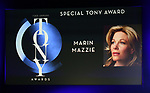 Special Tony Award to Marin Mazzie during The 73rd Annual Tony Awards Nominations Announcement on April 30, 2019 in New York City.