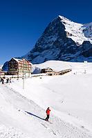 CHE, Schweiz, Kanton Bern, Berner Oberland, Grindelwald: Skiregion Kleine Scheidegg mit Eiger (3.970 m) | CHE, Switzerland, Canton Bern, Bernese Oberland, Grindelwald: Kleine Scheidegg - ski area with Eiger