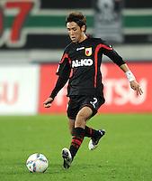 FUSSBALL   1. BUNDESLIGA  SAISON 2011/2012   10. Spieltag FC Augsburg - SV Werder Bremen           21.10.2011 Hajime Hosogai (FC Augsburg)