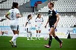 16.03.2019, Stadion Essen, Essen, GER, AFBL, SGS Essen vs TSG 1899 Hoffenheim, DFL REGULATIONS PROHIBIT ANY USE OF PHOTOGRAPHS AS IMAGE SEQUENCES AND/OR QUASI-VIDEO<br /> <br /> im Bild | picture shows:<br /> Freistosssituation mit Danica Wu (SGS Essen #3) und Ramona Petzelberger (SGS Essen #13), <br /> <br /> Foto &copy; nordphoto / Rauch