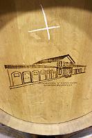 barrel with stamp Bodega Agribergidum, DO Bierzo, Pieros-Cacabelos spain castile and leon