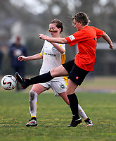 Action during the Women's Knockout Cup Semi Final, Eastern Suburbs v Upper Hutt City, Maddils Farm, Auckland, New Zealand, Sunday 27 August  2017. Photo: Simon Watts/www.bwmedia.co.nz