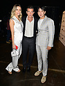 MIAMI, FL - MAY 30: Nicole Kimpel, Antonio Banderas, and Rene Ruiz pose backstage during RR by Rene Fashion Show during Miami Fashion Week at Ice Palace Film Studios on May 30, 2019 in Miami, Florida. ( Photo by Johnny Louis / jlnphotography.com )