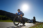 Elisa Longo Borghini (ITA) in action during the Elite Women Individual Time Trial of the 2018 UCI Road World Championships running 27.8km from Wattens to Innsbruck, Innsbruck-Tirol, Austria 2018. 25th September 2018.<br /> Picture: Innsbruck-Tirol 2018 | Cyclefile<br /> <br /> <br /> All photos usage must carry mandatory copyright credit (&copy; Cyclefile | Innsbruck-Tirol 2018)
