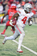 College Park, MD - NOV 12, 2016: Ohio State Buckeyes running back Curtis Samuel (4) scores a touchdown during game between Maryland and Ohio State at Capital One Field at Maryland Stadium in College Park, MD. (Photo by Phil Peters/Media Images International)