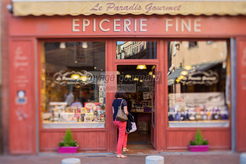 France, Haute-Garonne (31), Toulouse,  Epicerie fine: Le Paradis Gourmet //  France, Haute Garonne, Toulouse,  delicatessen the Le Paradis Gourmet