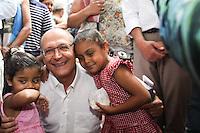 SAO PAULO, SP, 01.11.2014 - GERALDO ALCKMIN - Geraldo Alckmin governador da cidade de Sao Paulo durante entrega da moradia de número 500 mil da Companhia de Desenvolvimento Habitacional e Urbano (CDHU), no bairro do Belém na região leste da cidade de São Paulo neste sábado, 01. (Foto: Marcos Moraes / Brazil Photo Press).