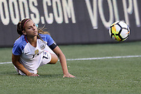 Seattle, WA - Thursday July 27, 2017: Alex Morgan during a 2017 Tournament of Nations match between the women's national teams of the United States (USA) and Australia (AUS) at CenturyLink Field.