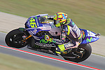 134.06.2014 Barcelona, Spain.  Moto GP friday free practice. Picture show Valentino Rossi ridding Yamaha YZR-M1, Movistar Yamaha MotoGP team at Circuit de Barcelona-Catalunya