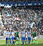 10.09.2017, OLympiastadion, Berlin, GER, 1.FBL, Hertha BSC VS. SV Werder Bremen, im Bild <br /> Mathew Lecki (Hertha BSC Berlin #11), Vedad Ibisevic (Hertha BSC Berlin #19), Mitchell Weiser (Hertha BSC Berlin #23), Niklas Stark (Hertha BSC Berlin #5), Sebastian Langkamp (Hertha BSC Berlin #15), Milos Veljkovic (Werder Bremen)<br /> <br /> <br />       <br /> Foto &copy; nordphoto / Engler