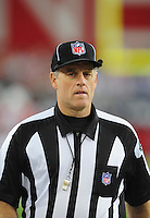 Sept. 27, 2009; Glendale, AZ, USA; NFL referee Rich Hall during the game between the Arizona Cardinals against the Indianapolis Colts at University of Phoenix Stadium. Indianapolis defeated Arizona 31-10. Mandatory Credit: Mark J. Rebilas-