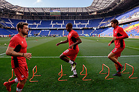 Harrison, NJ - Friday July 07, 2017: Patrice Bernier, Dejan Jakovic during a 2017 CONCACAF Gold Cup Group A match between the men's national teams of French Guiana (GUF) and Canada (CAN) at Red Bull Arena.