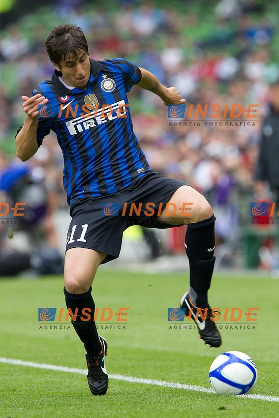 Dublin, Ireland 31/07/2011..Calcio Football Dublin Super Cup tournament..Ricardo Alvarez in azione durante la partita Inter - Manchester City..Foto Paolo Nucci Insidefoto