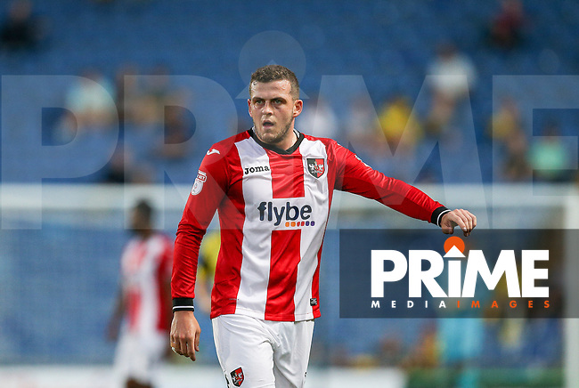 Pierce Sweeney of Exeter City during the The Checkatrade Trophy match between Oxford United and Exeter City at the Kassam Stadium, Oxford, England on 30 August 2016. Photo by Andy Rowland / PRiME Media Images.