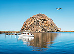 Morro Bay, on the central coast of California, on a bright sunny morning.