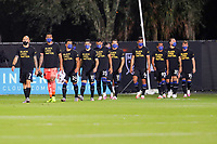10th July 2020, Orlando, Florida, USA;  San Jose players take the field before the soccer match between the Seattle Sounders and the San Jose Earthquakes on July 10, 2020, at ESPN Wide World of Sports Complex in Orlando, FL.