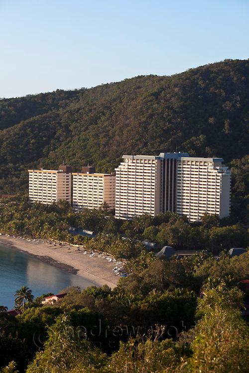 Hamilton Island resort at Catseye Beach.  Hamilton Island, Whitsundays, Queensland, Australia