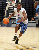 WF Jordan Hamilton (Los Angeles, CA / Dorsey) drives the ball during the NBA Top 100 Camp held Thursday June 21, 2007 at the John Paul Jones arena in Charlottesville, Va. (Photo/Andrew Shurtleff)