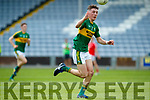 Sean O'Leary Kerry in action against  Louth in the All Ireland Minor Football Quarter Finals at O'Moore Park, Portlaoise on Saturday.