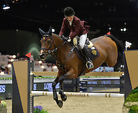 Edwina Tops-Alexander (Australia), riding Lintea Tequila at the Gucci Gold Cup International Jumping competition at the 2015 Longines Masters Los Angeles at the L.A. Convention Centre.<br /> October 3, 2015  Los Angeles, CA<br /> Picture: Paul Smith / Featureflash