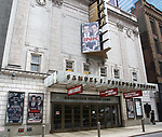 """Theatre Marquee for Manhattan Theatre Club's Broadway premiere of James Graham's """"Ink"""" , directed by Rupert Goold, and starring Bertie Carvel and Jonny Lee Miller at the Samuel J. Friedman Theatre on April 22, 2019 in New York City."""
